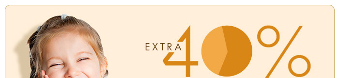 Extra 40% Cashback on the order