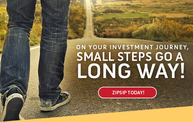 ON YOUR INVESTMENT JOURNEY, SMALL STEPS GO A LONG WAY!